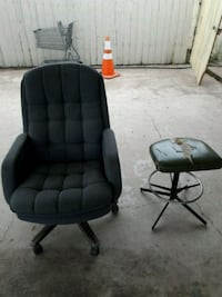 two black leather padded rolling chairs Pharr, 78577