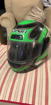 green and black LS2 full face helmet Milford, 03055