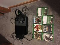 Xbox one with games, control, headset, and chargeable battery packs Nitro