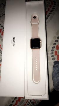 Pink aluminum case Apple Watch 38mm series 3 with soft pink wrist band Anniston, 36207
