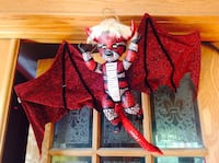 """Reimagined painted doll toy """"Flying Demon Baby"""" Halloween Decoration  Lincoln, L0R"""