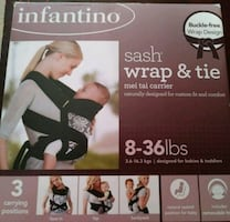 New Infantino Sash Wrap & Tie Mei Tai Carrier