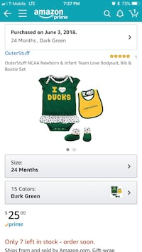 Oregon Duck Infant set Eugene, 97404