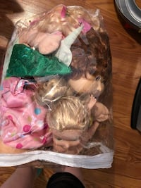 Bag of dolls and clothes  Louisville, 40299