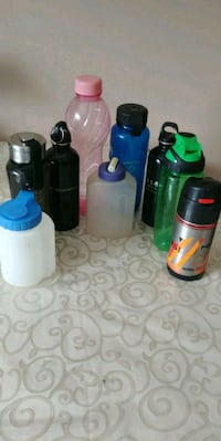 9 assorted water or juice bottles Richmond Hill