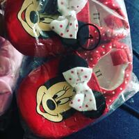 red and white Minnie Mouse print backpack Charlotte, 28214