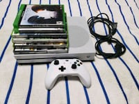 white Xbox One console with controller and game cases Fort Washington, 20744