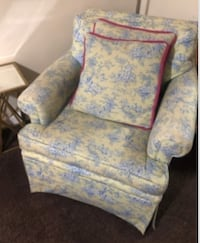 Price Reduction Arm Chair Custom Toile Fabric - $135 WASHINGTON