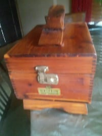 red and brown wooden chest box Baldwinsville, 13027
