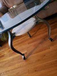 Glass/marble modern coffee end tables