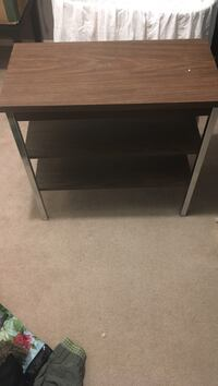 brown wooden 2-layer TV stand St Albert, T8N 2J3