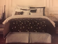 Double/Queen: Brown and pale blue Gluckstein Duvet Set Innisfil