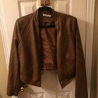 Brown leather rickis jacket size large (14) Mississauga, L5M 3K4