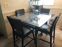 rectangular brown wooden table with four chairs dining set Woodbridge, 22191