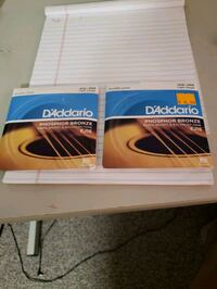 2 sets of d'Addario acoustic phosphor bronze. .012 - .053 Stoughton, 02072