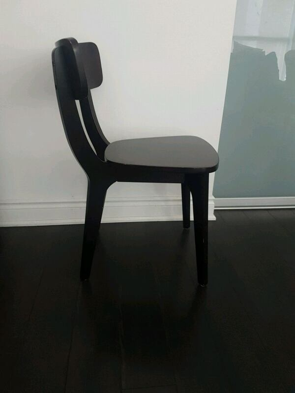 2 black dining room chairs 2