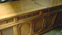 brown wooden framed glass top coffee table RICHMOND