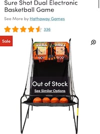 Dual electronic basketball game