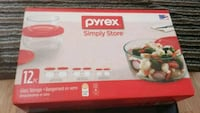 Pyrex simple glass storage with red top Manassas, 20109