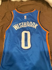 STITCHED RUSSELL WESTBROOK JERSEY THUNDER # 0  SIZE 44 Crofton, 21114