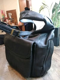 black leather motorcycle saddle bag Silver Spring, 20902