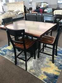 rectangular brown wooden table with four chairs dining set Columbia, 29209