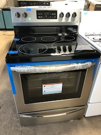 Electric stove glass top