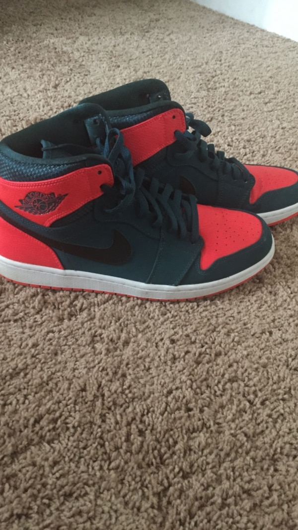 Used Pair of black-and-red Nike air jordan 1 westbrook edition only wore  once size 11 for sale in Baton Rouge - letgo 693030bd1