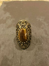 silver-colored and brown gemstone ring Gaithersburg, 20879