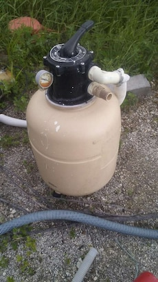 Sand filter pool