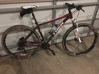 black and red hardtail mountain bike Welland, L3C 5R2