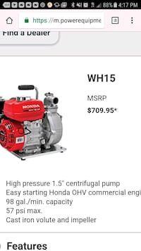 red high pressure 1.5 centrifugal pump screenshot Hayward, 94541