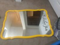 yellow and white wooden framed mirror Calgary, T2Y