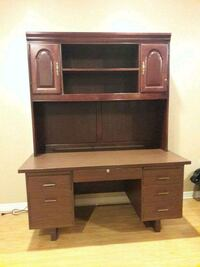 brown wooden desk with hutch Ocala, 34480