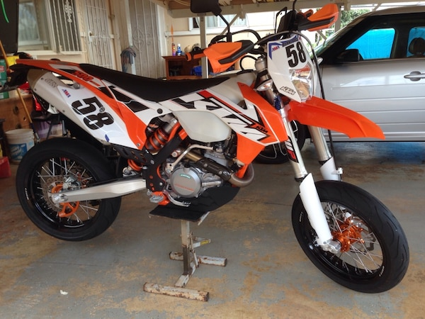used 2015 ktm 500 exc supermoto for sale in pearl city letgo. Black Bedroom Furniture Sets. Home Design Ideas