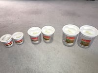 Air tight snap containers set ( 6 pieces ). Edmonton, T5T 5X6
