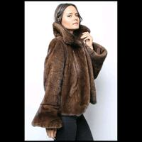 Mahogany Mink Fur Jacket Size 8/10 New York