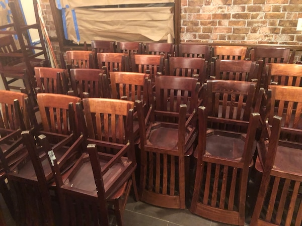 Used Restaurant Furniture Chairs Wood Chairs For Sale In Rahway Letgo