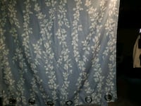 Blueish color with white flowers 1 pair width 3'3/ Frederick
