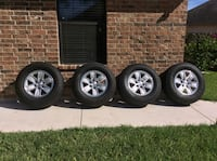GMC tires with rims in excellent conditions