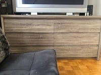 gray and black wooden TV stand Mississauga, L5G 1E1