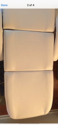 White Facial Bed/Chair with Stool in like New Condition. Located in Bethesda Maryland