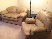 brown leather 3-seat sofa and loveseat Winter Garden, 34787