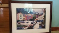 Picturesque watercolor of town with frame Woodbridge, 22192