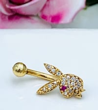 14k solid belly button ring
