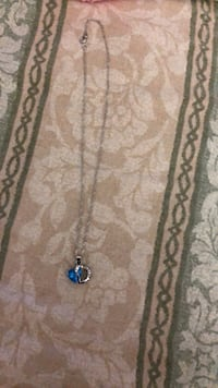 silver-colored and blue gemstone pendant necklace San Antonio, 78229