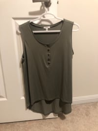 Army green look top, longer in the back  550 km