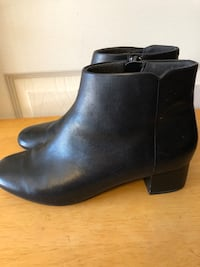 Clark's Collection Women's Sz 9M, Black Leather Ankle Boots Nottingham, 21236