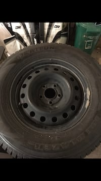 235 70 r16 winter tires and rims new!!! 700 obo