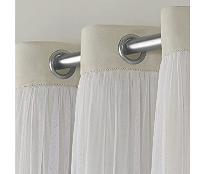 Home Curtains Catarina Layered Solid Blackout and Sheer Window Curtain 4f390cbb-5446-409f-9fd7-5d6cae59f326